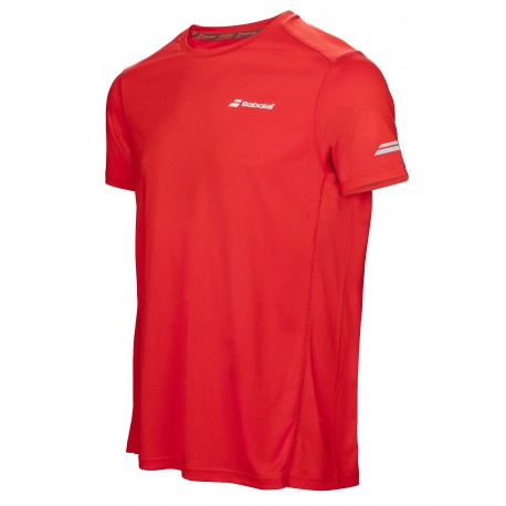 CORE FLAG CLUB TEE MEN Rouge Fluo