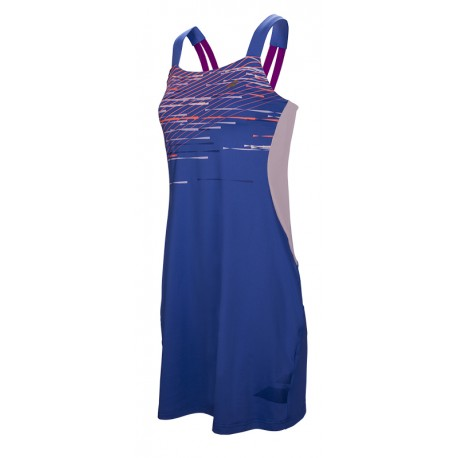PERF STRAP DRESS WOMEN Bleu Nuit