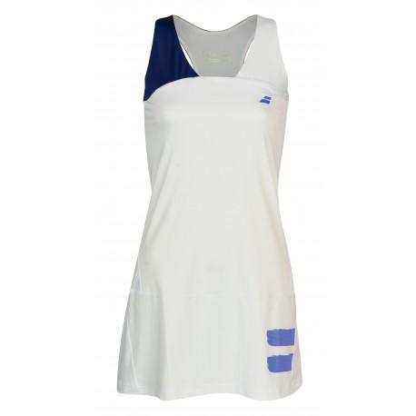 PERF RACERBACK DRESS WOMEN White-Estate Blue