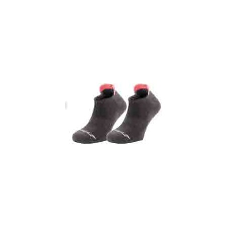 CHAUSSETTES INVISIBLES x2 LADY Grises Roses