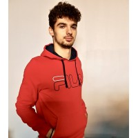 SWEAT HOODY WILLIAM Rouge Unisexe