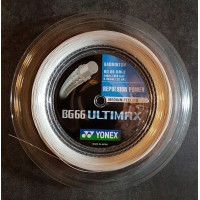 BOE - POSE AVEC BG66UM BLANC YONEX