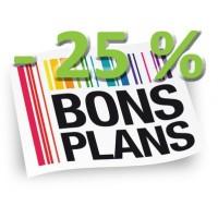 Bons Plans - 25 % ! et +